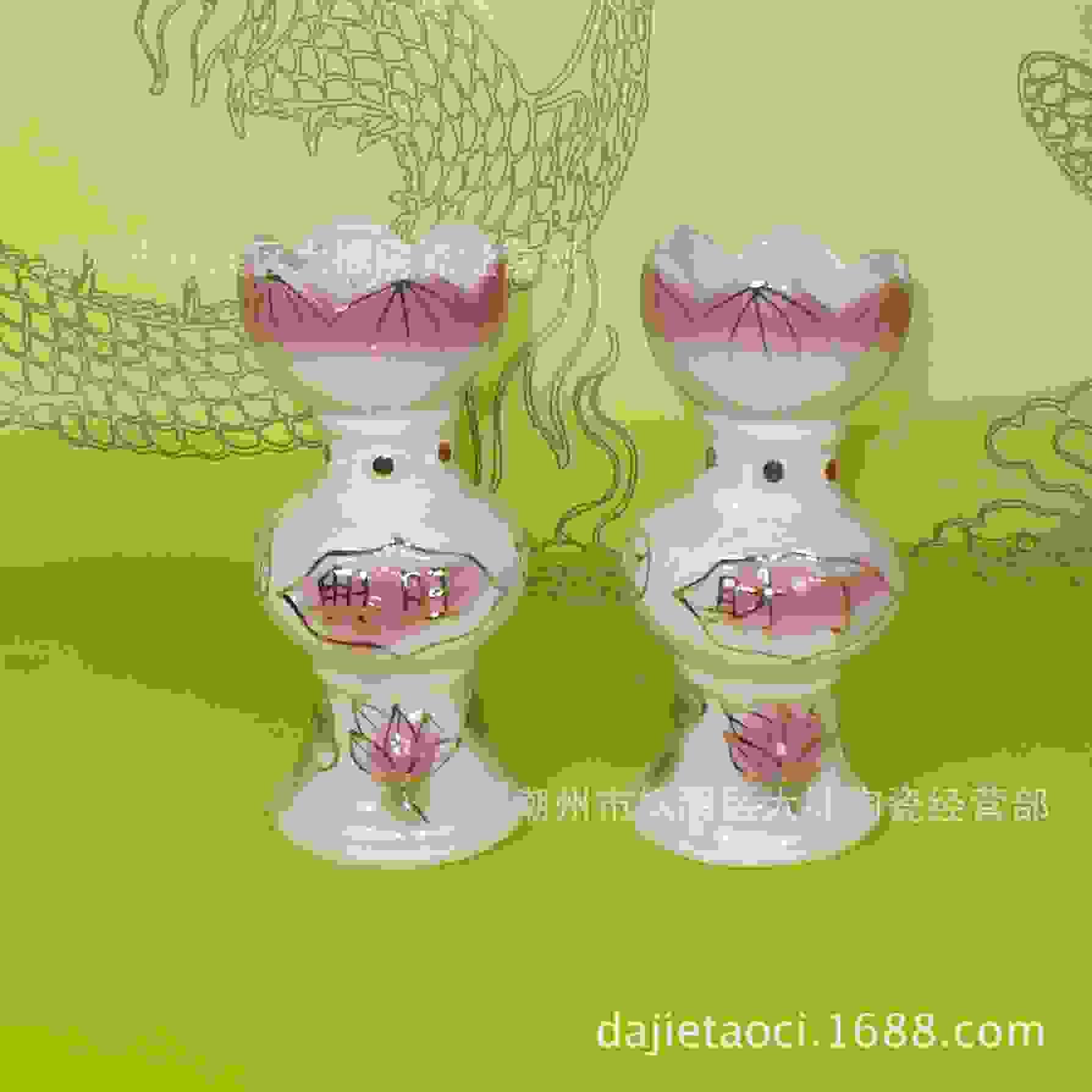 陶瓷财丁兴旺焟烛台一对佛教佛堂彿供应品工艺品