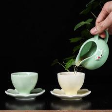 单杯陶瓷功夫茶杯主人杯品茗杯现代工艺品青瓷釉高档单杯奶杯定制