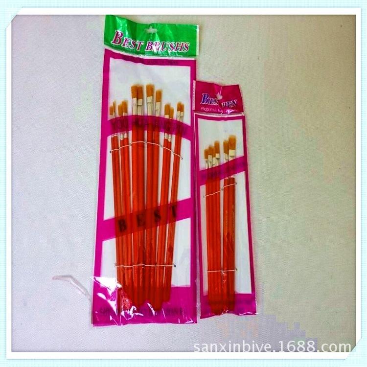 厂家直销 上海红杆油画笔 油画毛笔 尼龙毛画笔 可刻LOG 量大从优