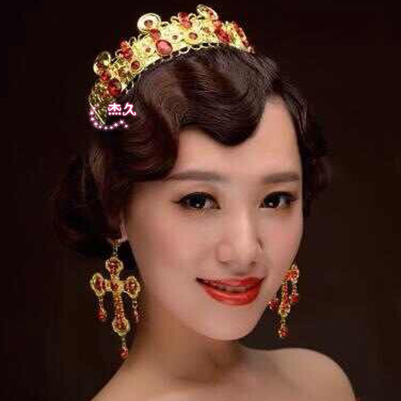 产品供应 > 新娘皇冠头饰饰品结婚婚庆影楼用品发饰套装韩式0  造型