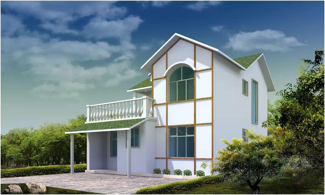 新农村自建房外观效果图设计自建房外观设计二层私人别墅外观设.