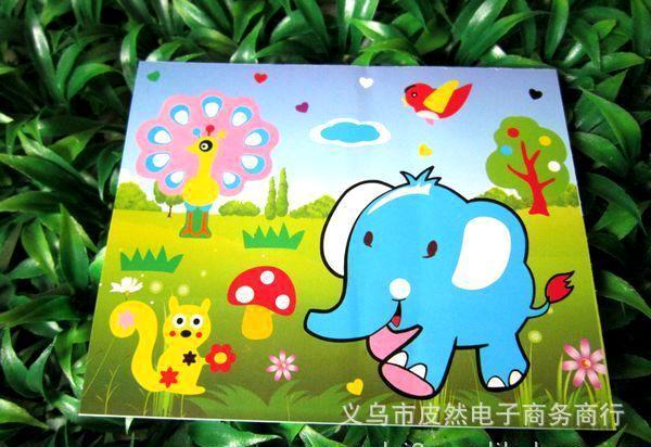 新款韩版 精品创意 快乐童年 手工制作 卡通图案3d diy艺术立体画
