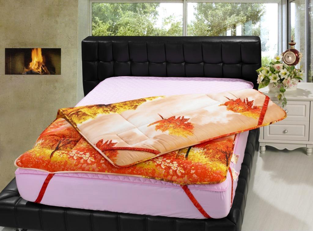 供应 新款 磨毛3D印花软床垫加厚 席梦思床护垫 学生宿舍床垫床褥