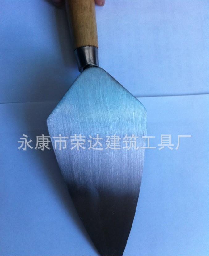 英式宽根三角尖头抹泥刀砌砖刀 泥木工具 灰池 小泥板 7寸