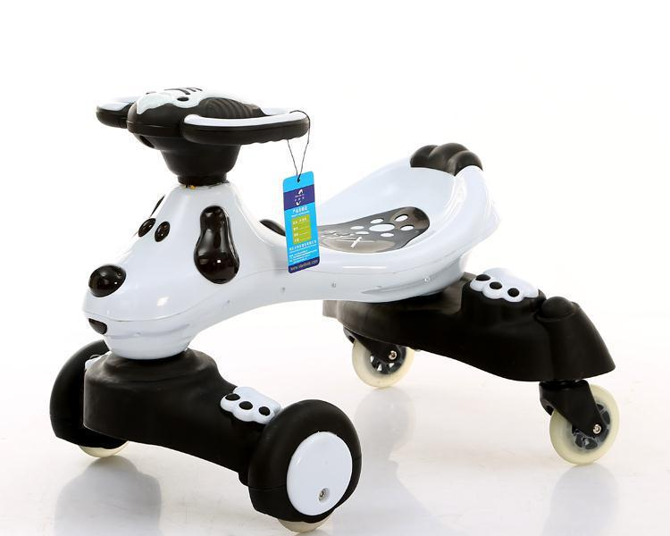 小伯乐 新款儿童车扭扭车 溜溜车摇摆车滑行车 四轮适合1-3岁孩子