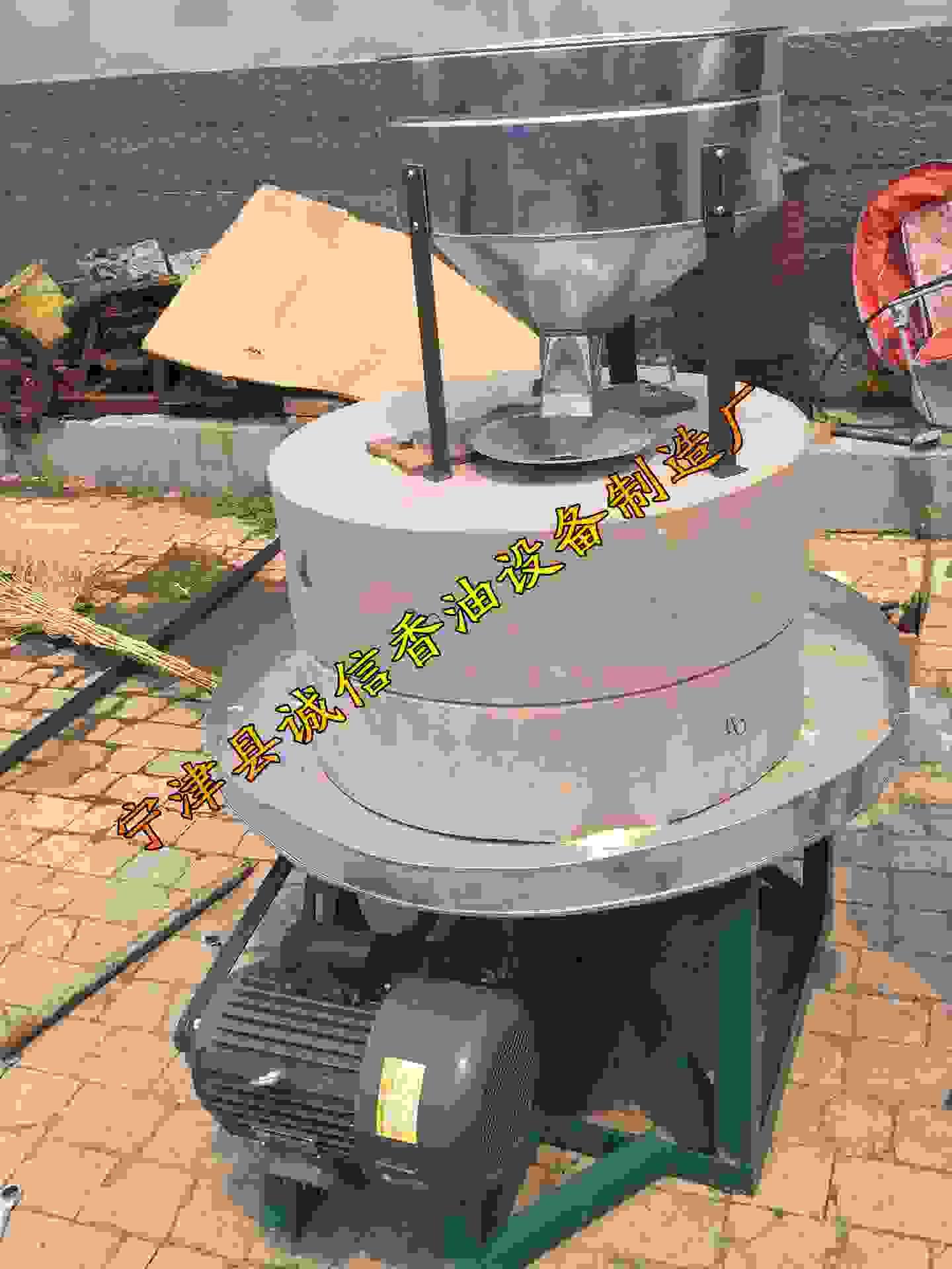德州专业生产电动石磨机械小磨香油加工设备香油麻酱机械电动石磨1