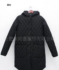 韩国官网同步 百搭菱格两件套连帽棉服棉衣外套 四色