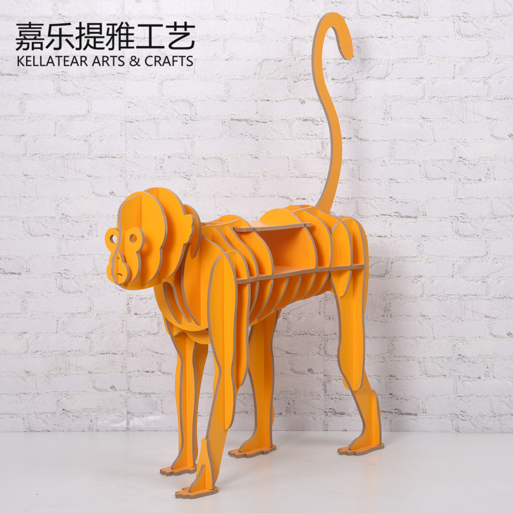 生肖猴书架 木质装饰品 创意书架 动物置物架创意书架 厂家直销