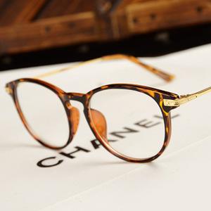 新款复古平光镜女时尚复古可爱圆框全框眼镜框眼镜架近视眼镜男女