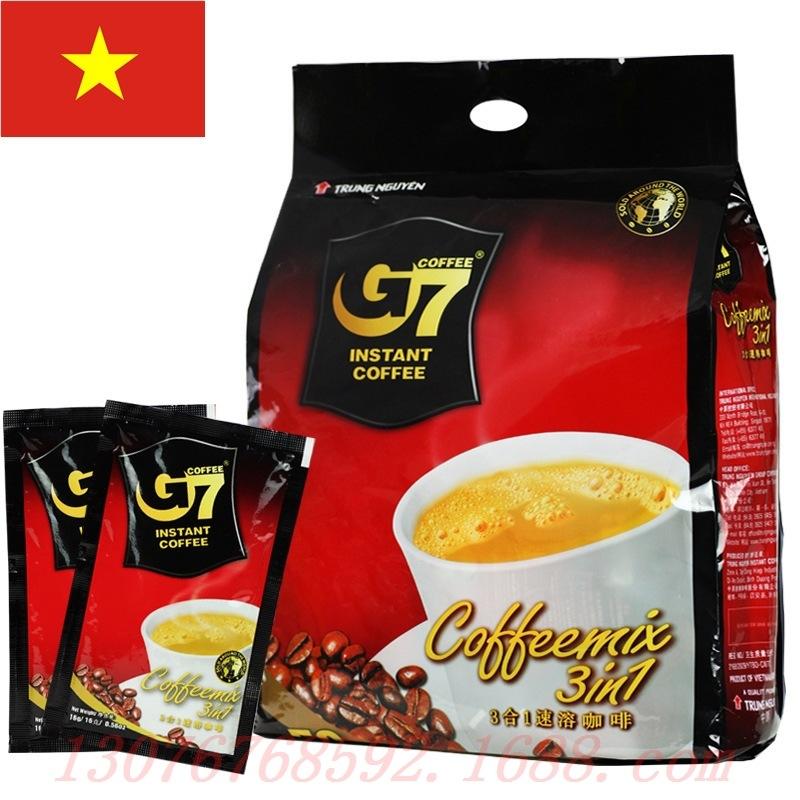 越南中原g7咖啡_越南进口咖啡 中原g7咖啡800g 三合一速溶咖啡50包袋 g 一件代发