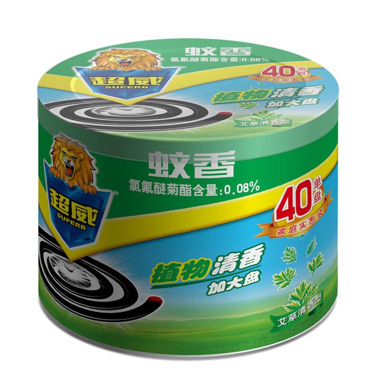 洁美商贸 超威蚊香 微烟 艾草清香40单盘1蚊香座 快速驱蚊图片