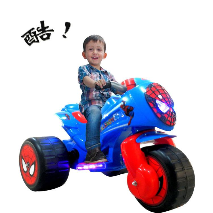 小脚印最新款儿童电动车 摩托车 男款女款广场车音乐灯光厂家批发1