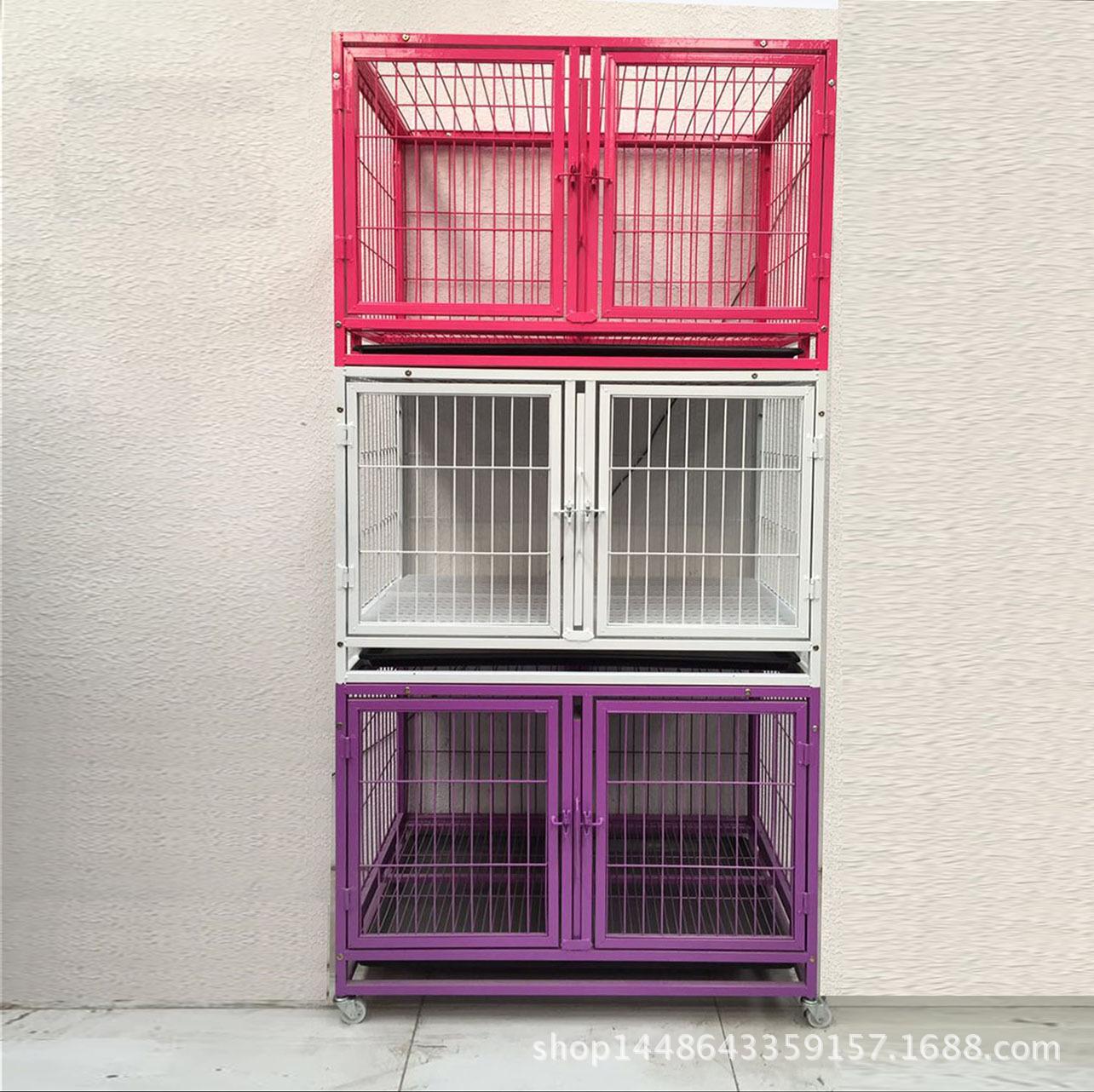 宠物寄养笼具分离笼子隔离笼可拆分笼带隔断三层多层笼具宠物医院