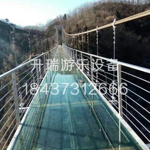 重庆玻璃吊桥厂家,升瑞游乐款式多样