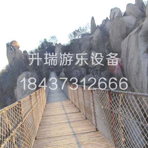 湖南优质木板吊桥厂家,认准升瑞游乐