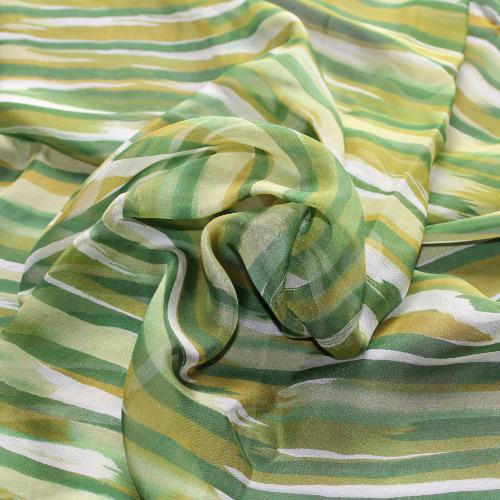 【现货】仿手绘6mm真丝雪纺印花100%桑蚕丝服装围巾面料