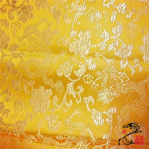 厂家直销  1米5宽幅各色龙纹织锦缎布料  质优价低  颜色齐全