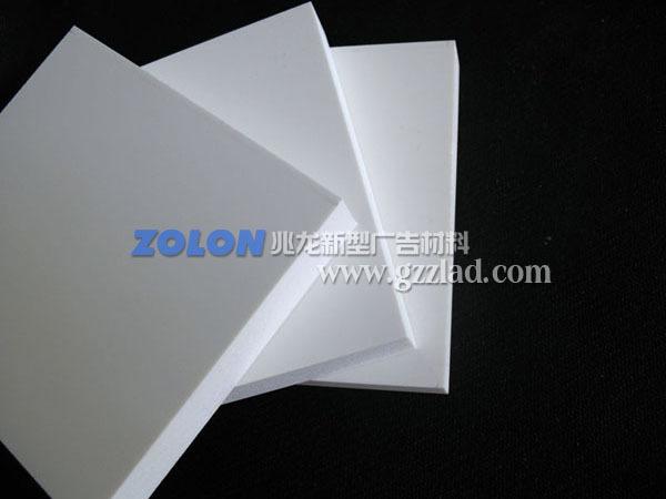 广东厂家长期现货直供丝白色10厘PVC自由发泡板