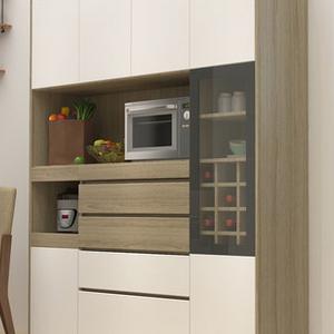 定制餐边柜多功能厨房微波炉碗柜大容量阳台收纳储物高柜