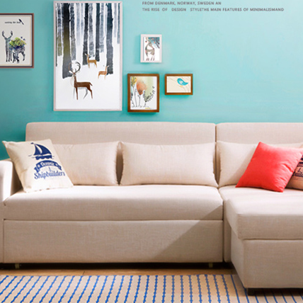 多功能沙发床现代简约储物小户型可折叠转角布艺客厅沙发