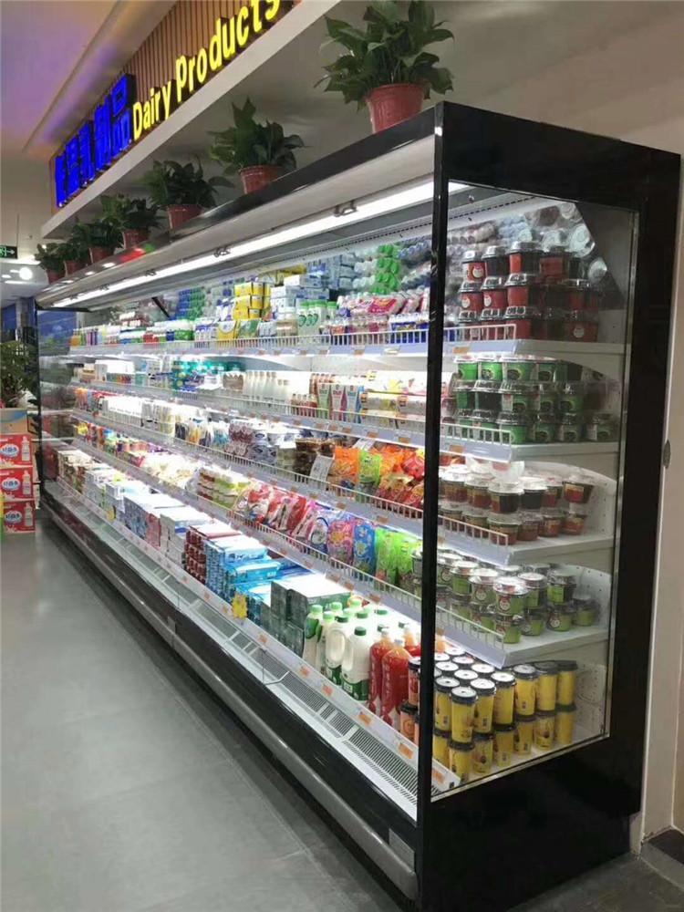 河南鄭州風幕柜廠家 風幕柜定做多少錢一米 超市保鮮冷藏柜 蔬菜水果保鮮柜