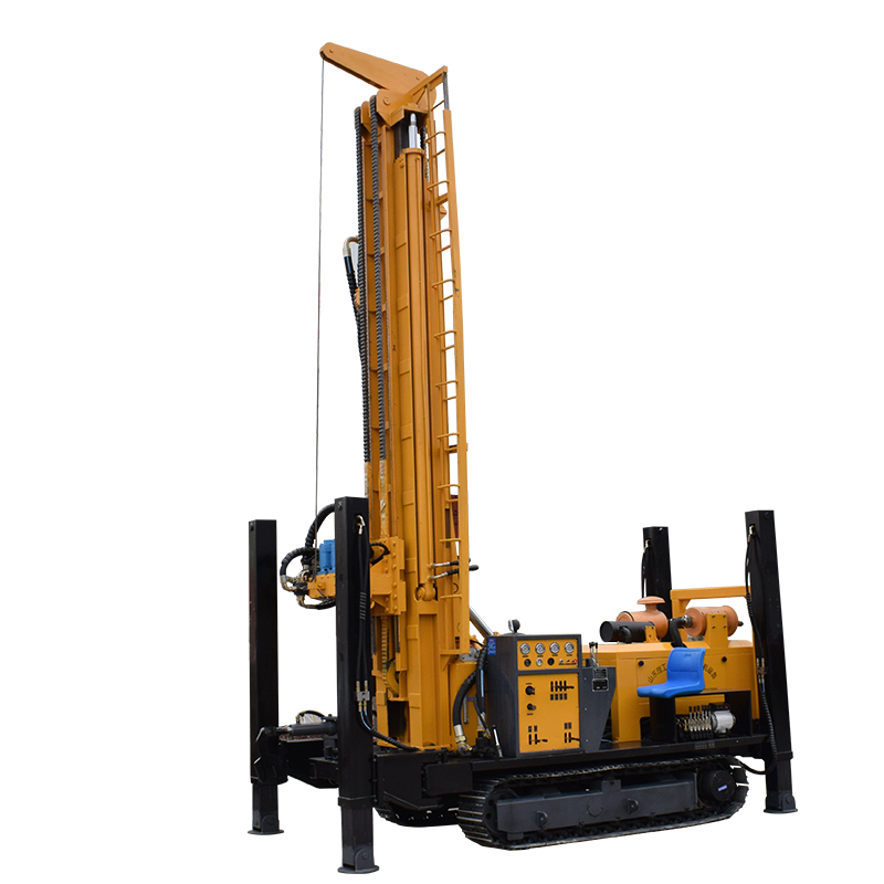 厂家直销FY-400   400米深度钻孔高效液压履带气动水井钻机