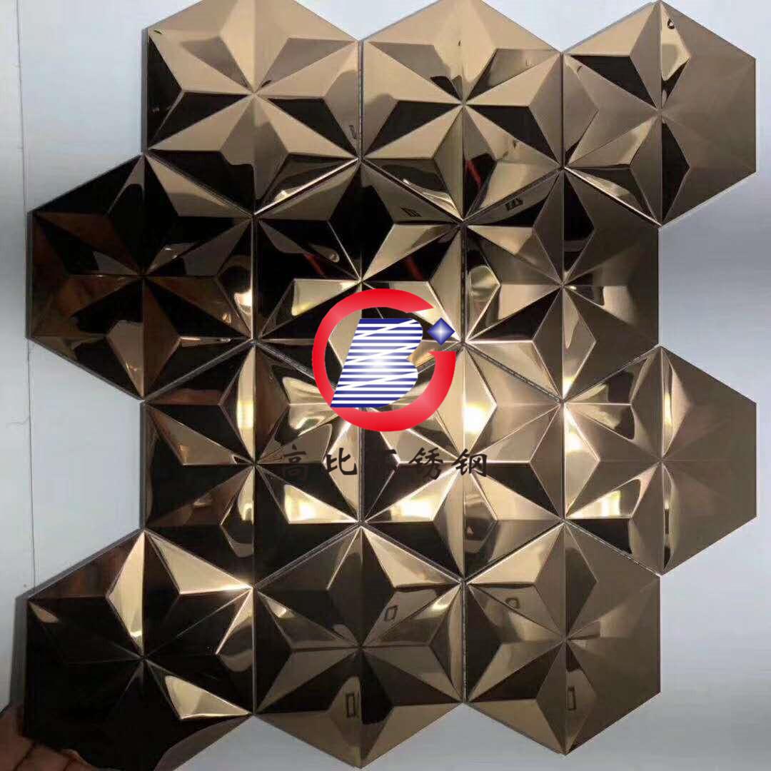 酒店KTV墙面三维浮雕板 不锈钢彩色压花板 吊顶凹凸装饰板生产厂家