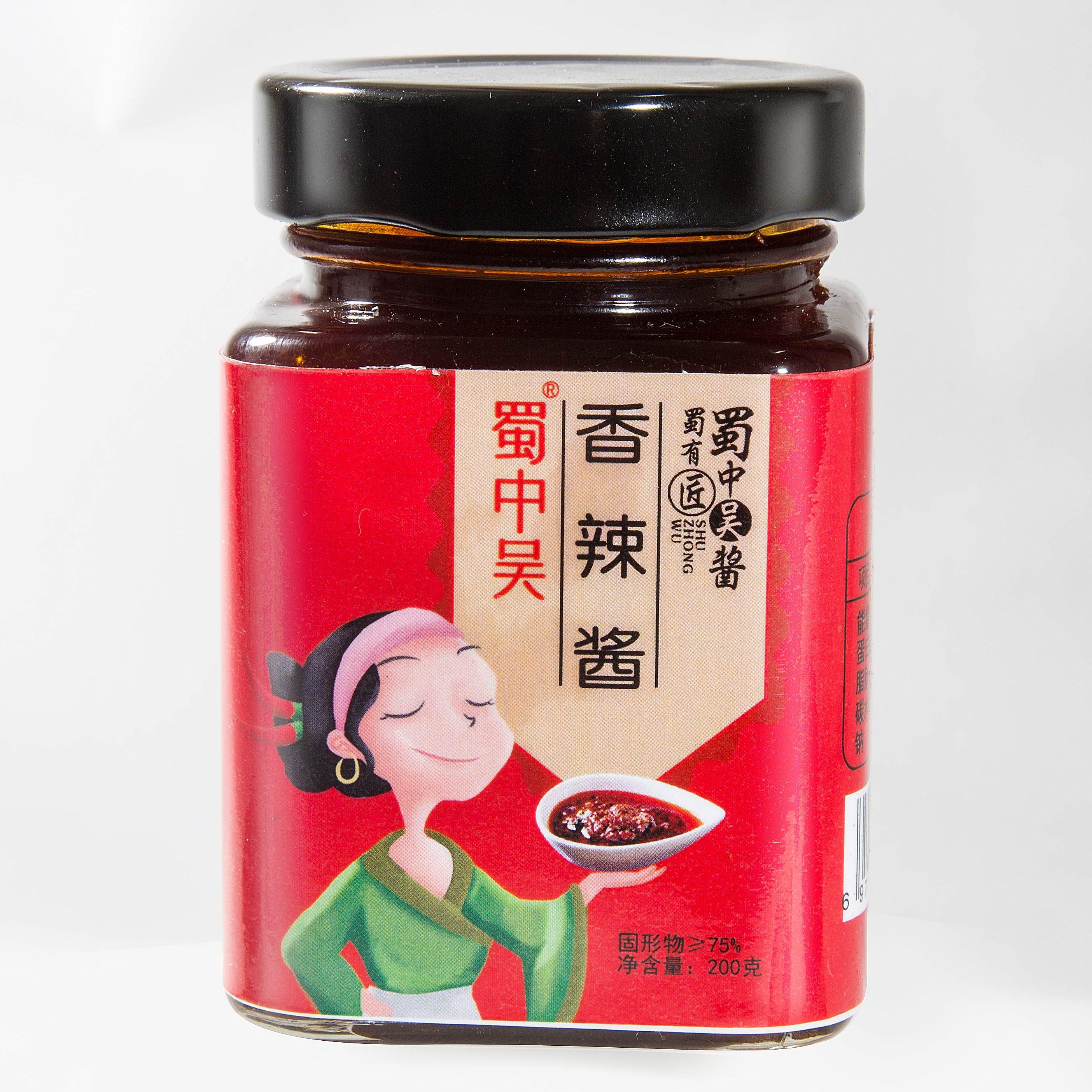 蜀中吴香辣酱酱川味拌饭酱香辣调味酱拌饭拌面条200g