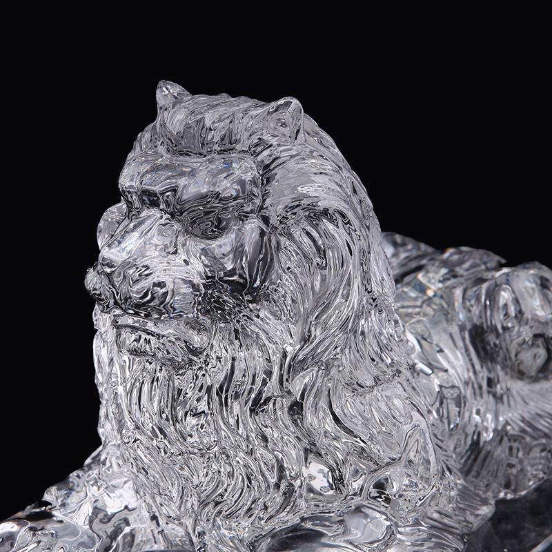 供应 水晶狮子 水晶立体狮子 狮子工艺品 水晶狮子摆件