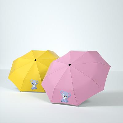 供应 卡通全自动晴雨伞折叠女防紫外线太阳伞防晒学生两用伞