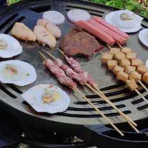 户外燃气铁板花式烧烤炒菜多用炉