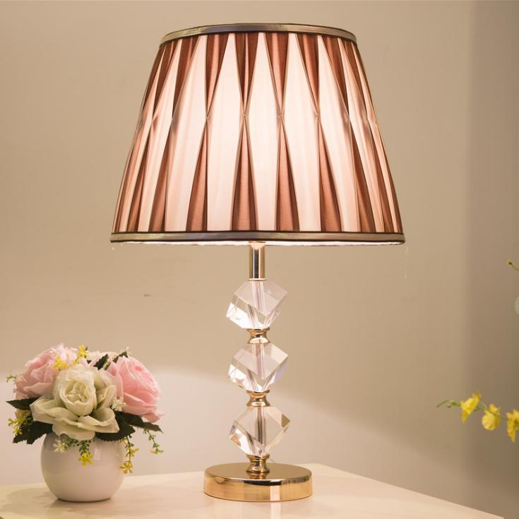 供应 水晶台灯 卧室床头灯 创意简约现代北欧时尚客厅台灯