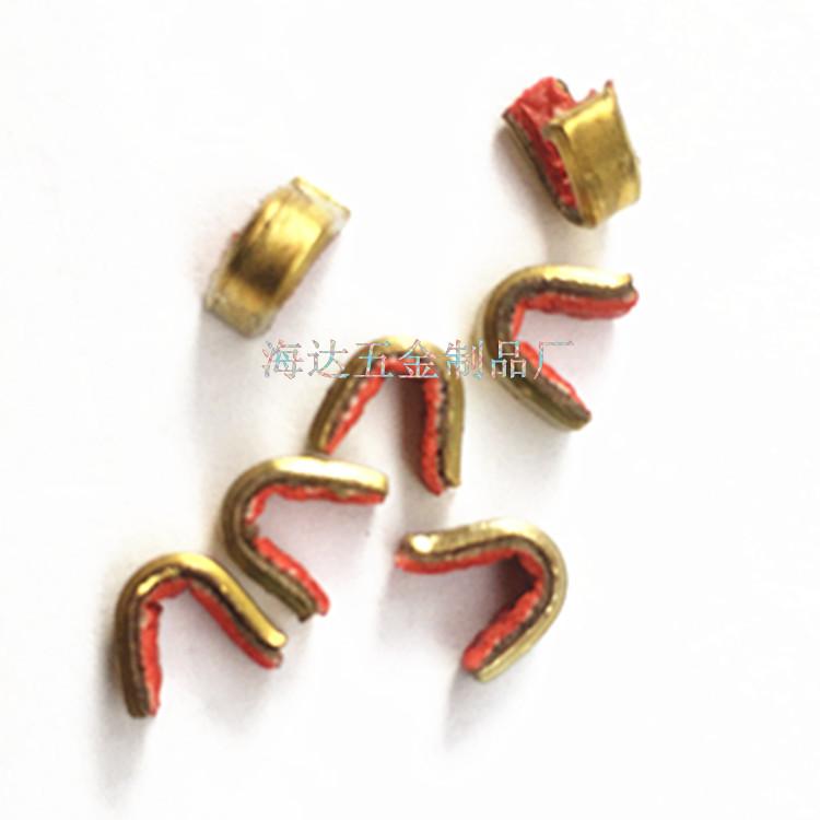 海达铜扣红色弓弦铜扣 定位扣欢迎订购