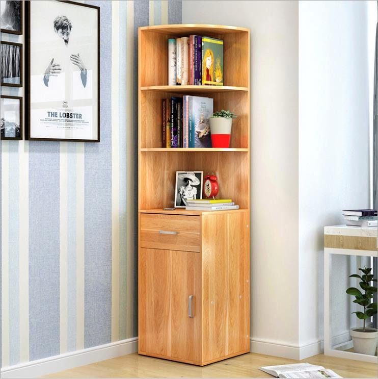 供应 简易书柜书架创意书架子简约现代小书柜多功能置物架大容量收纳柜