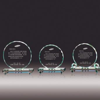 成友水晶厂家直销水晶奖牌奖杯定制十六角水晶奖牌摆台水晶工艺品