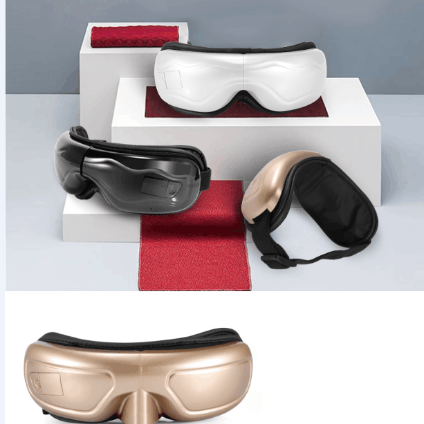 雄健新款眼部按摩器护眼仪器保护眼睛视力热敷缓解疲劳蓝牙眼保仪