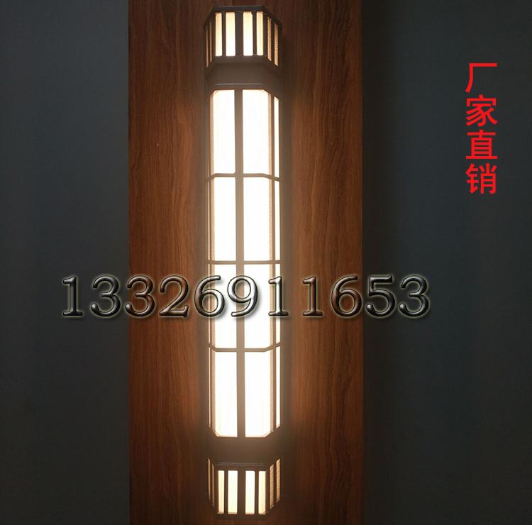 广东森隆堡灯饰供应中式暖色长条云石壁灯大楼外墙户外防水银色不锈钢壁灯