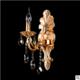 戈登堡灯饰 欧式现代客厅卧室书房锌合金水晶壁灯 金色床头水晶灯