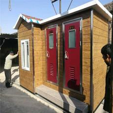 河北厂家定制移动环保生态厕所户外防腐木厕所免水厕所公共卫生间洗手间
