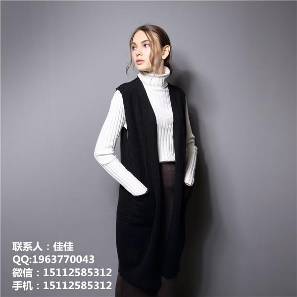 深圳中长款黑色打底毛衣 厂家直销