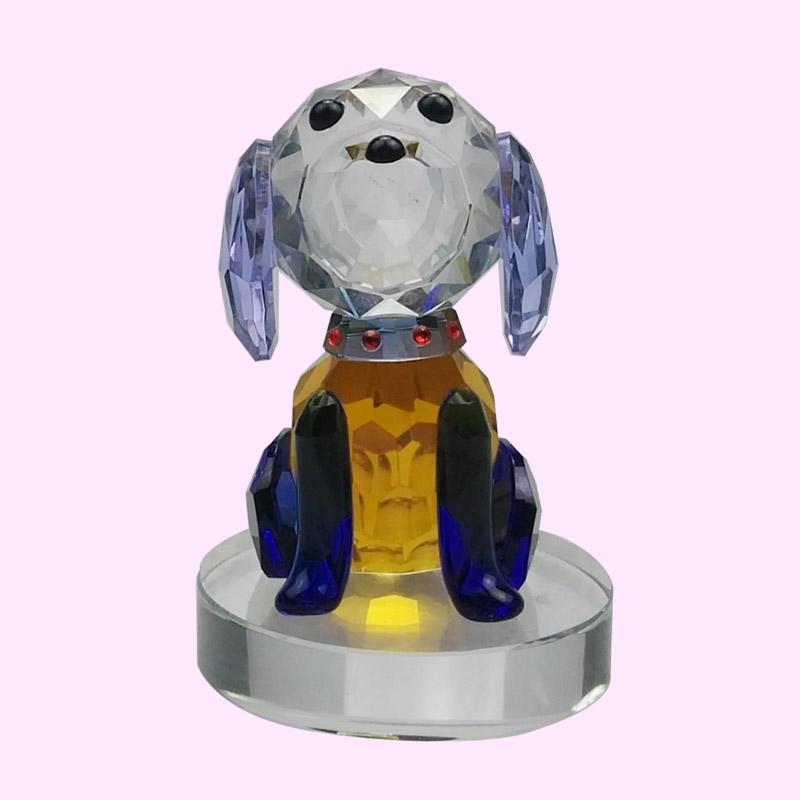 生肖小狗摆件 水晶摆件 K9水晶 创意水晶工艺品