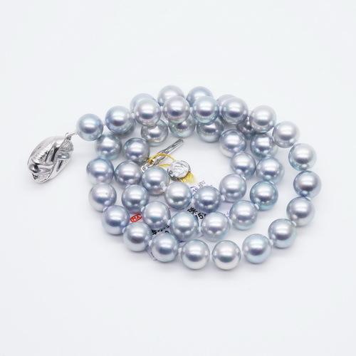 正圓akoya【真多麻】海水珍珠項鏈正品女送媽媽