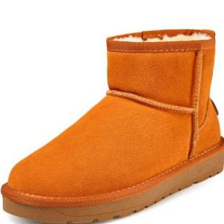 雪地靴女中筒温州女鞋防滑皮靴子厂家直销2017冬季女棉鞋通用LOGO