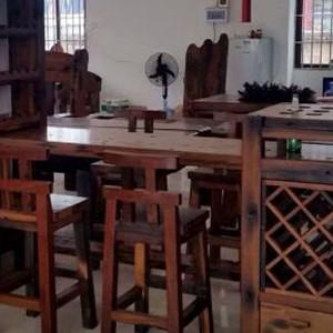 老船木吧台批发沉船木茶几图片客厅户外泡茶桌椅组合