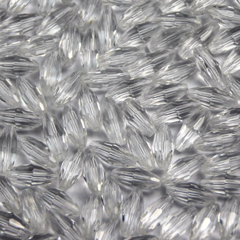 供应 水晶珠子 8×18橄榄珠子 DIY 串珠 编手链 编玩偶 配饰材料 白色