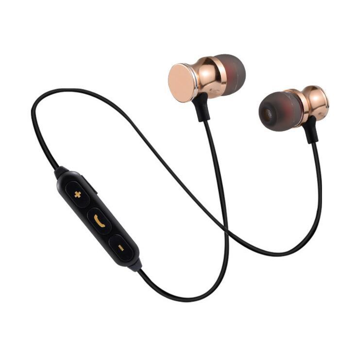 无线蓝牙磁吸金属耳机 运动跑步安卓苹果通用蓝牙耳机