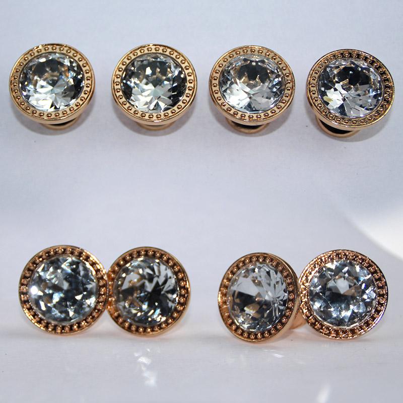 衣柜门拉手 欧式橱柜 鞋柜 酒柜 抽屉把手 现代简约圆单孔 水晶拉手 L017