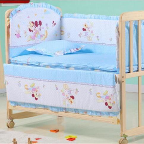 实木无漆婴儿床 多功能新生BB床可折叠变书桌童床 摇篮床