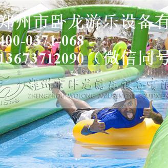 定制水上滑梯 移动水上乐园 儿童水上悠波球 郑州卧龙一站式服务
