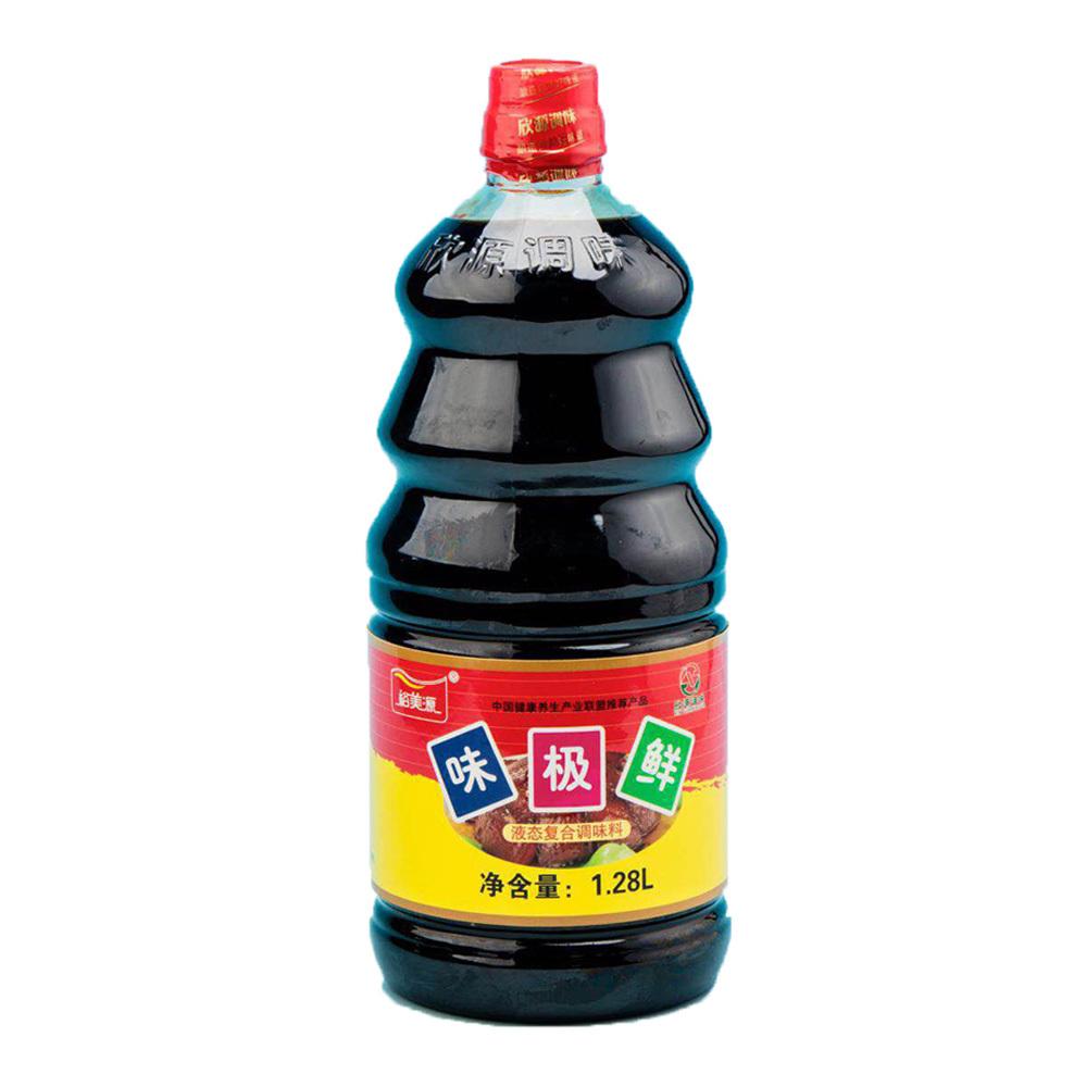 裕美源味极鲜 酱油调味汁1.28L/瓶